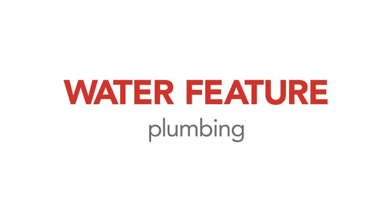 Water Feature Plumbing diy water fall   Diy plumbing ...