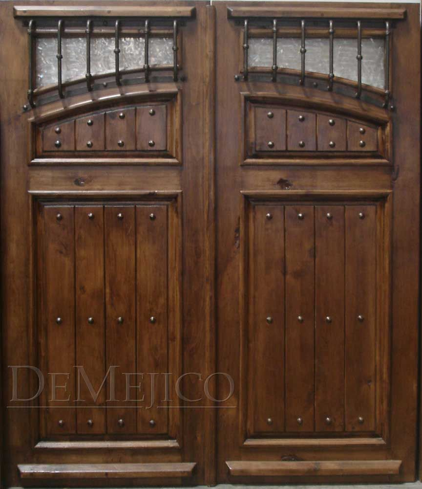 The stunning Puerta Antigua Sencilla is a beautiful representation of  Spanish-style hacienda doors, with deep paneling matching an over-sized  moulding. - Puerta Antigua Sencilla From DeMejico.com Home Furnishings