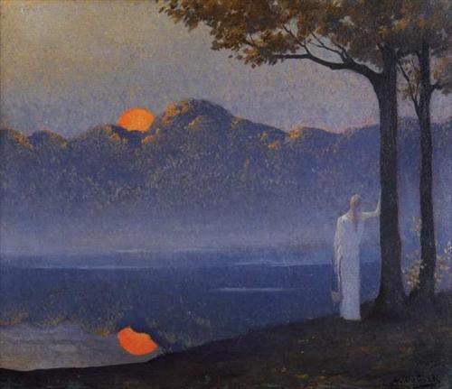 Alphonse Osbert     French, 1857 - 1939  The Muse at Sunrise