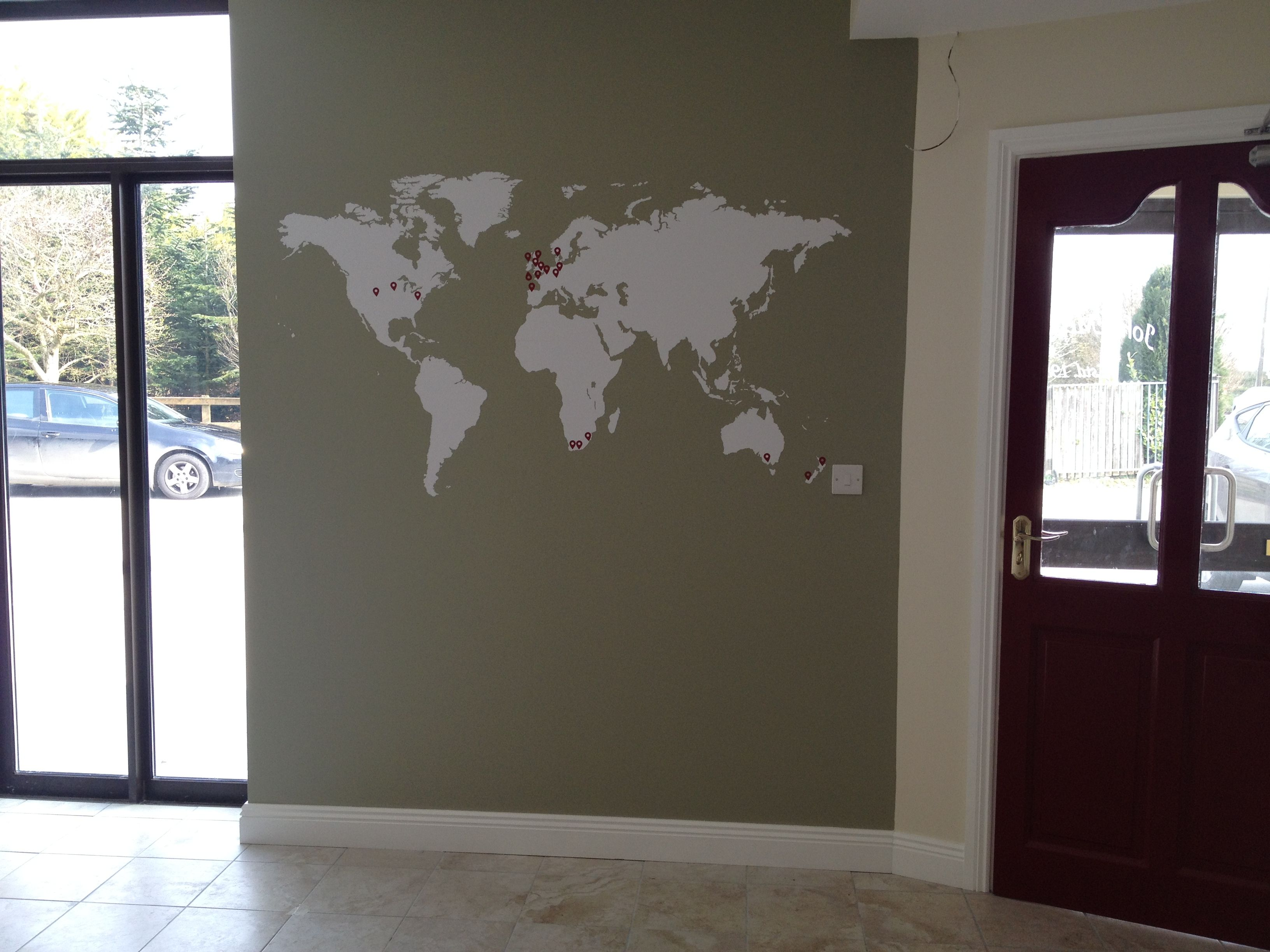 World map vinyl wall sticker wall sticker vinyl wall stickers and world map vinyl wall sticker gumiabroncs Image collections