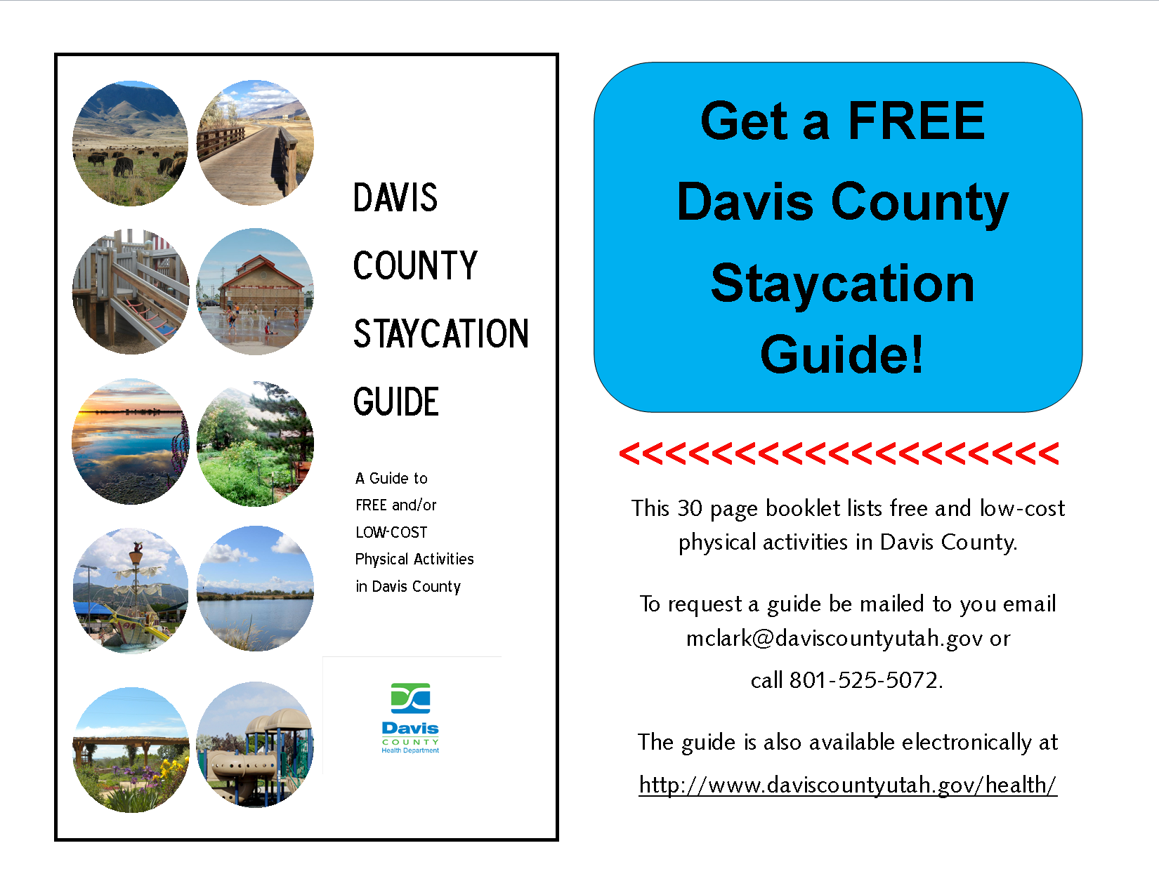 Download A Copy Of Our Free Davis County Staycation Guide Http Go Usa Gov 37awa Physical Activities Staycation Activities