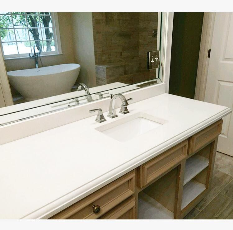 White Concrete Bathroom Countertop By Duncan Surfaces In Columbus Ga Https Www