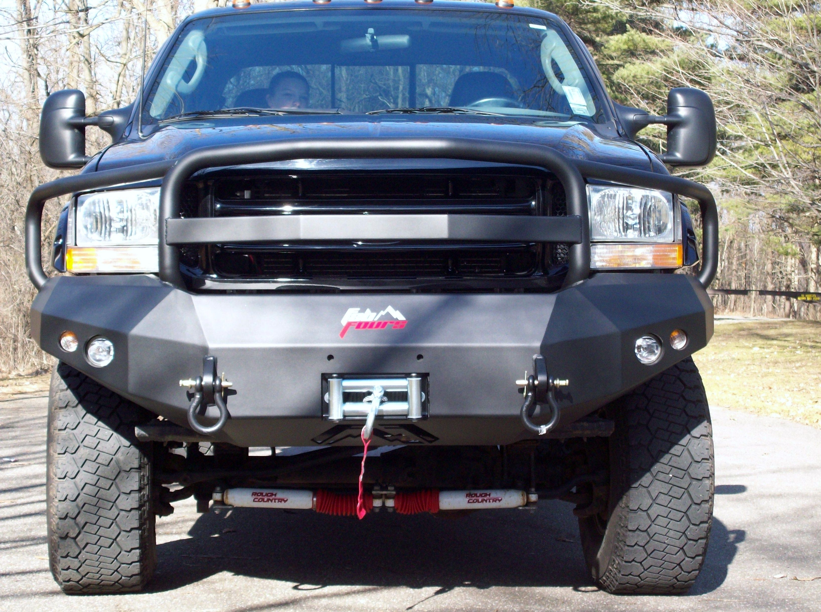 Fab fours heavy duty winch bumper front w full grill guard