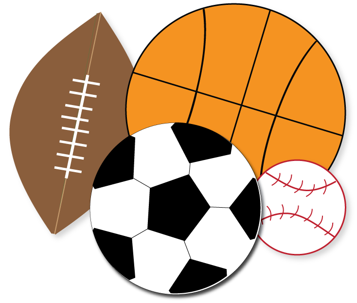 Image result for football and basketball clipart