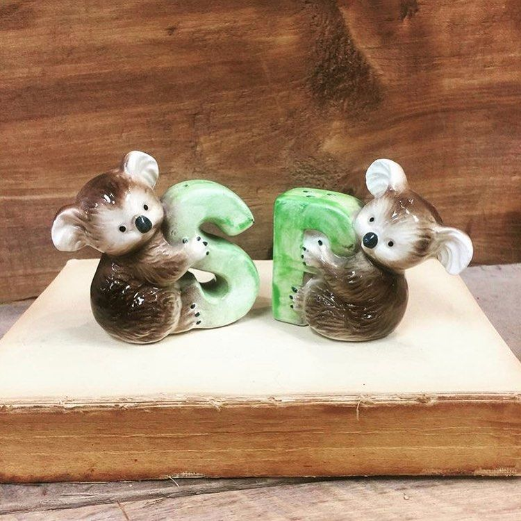 Follow Us For More: Super cute Koala bear salt and pepper shakers. Made in Japan. Both have stoppers and in perfect condition. Approx 2.5h. $14  S&H   To claim an item please comment ME or MINE. Questions do not claim an item.  Backup claims are welcome on any item  DM us with your zip code and Paypal email address.  Shipping right now is only available to the US and to your Paypal address.  Payment must be made