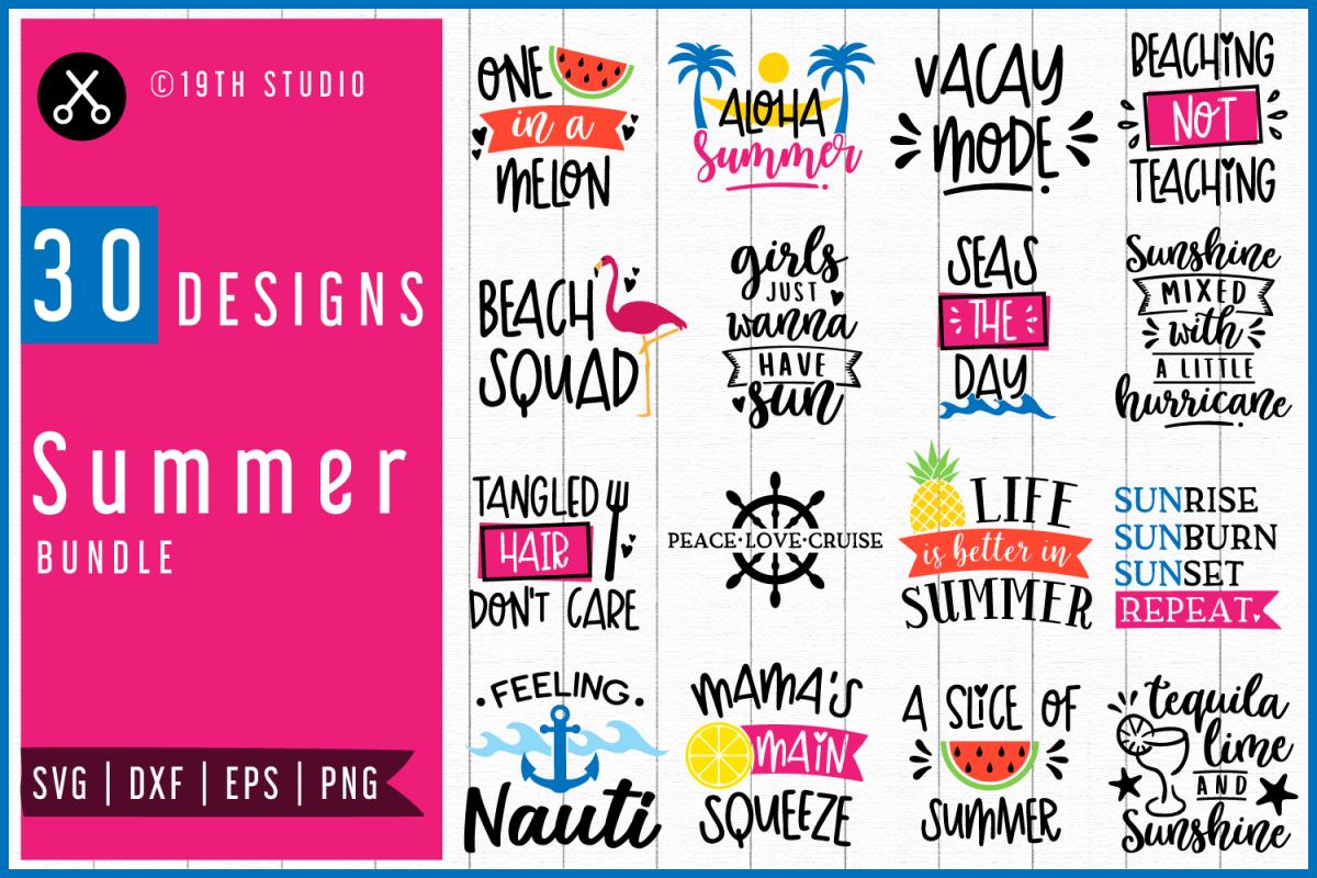 Summer Svg Bundle Mb48 206232 Svgs Design Bundles Design Bundles Svg Font Bundles