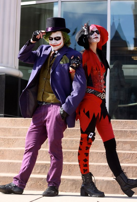50 of the cutest couples costumes for halloween - The Joker And Harley Quinn Halloween Costumes