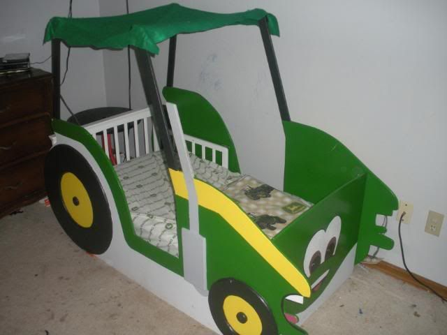 Green Tractor Toddler Bed Zach Attack Pinterest Toddler Bed Tractor And Bedrooms