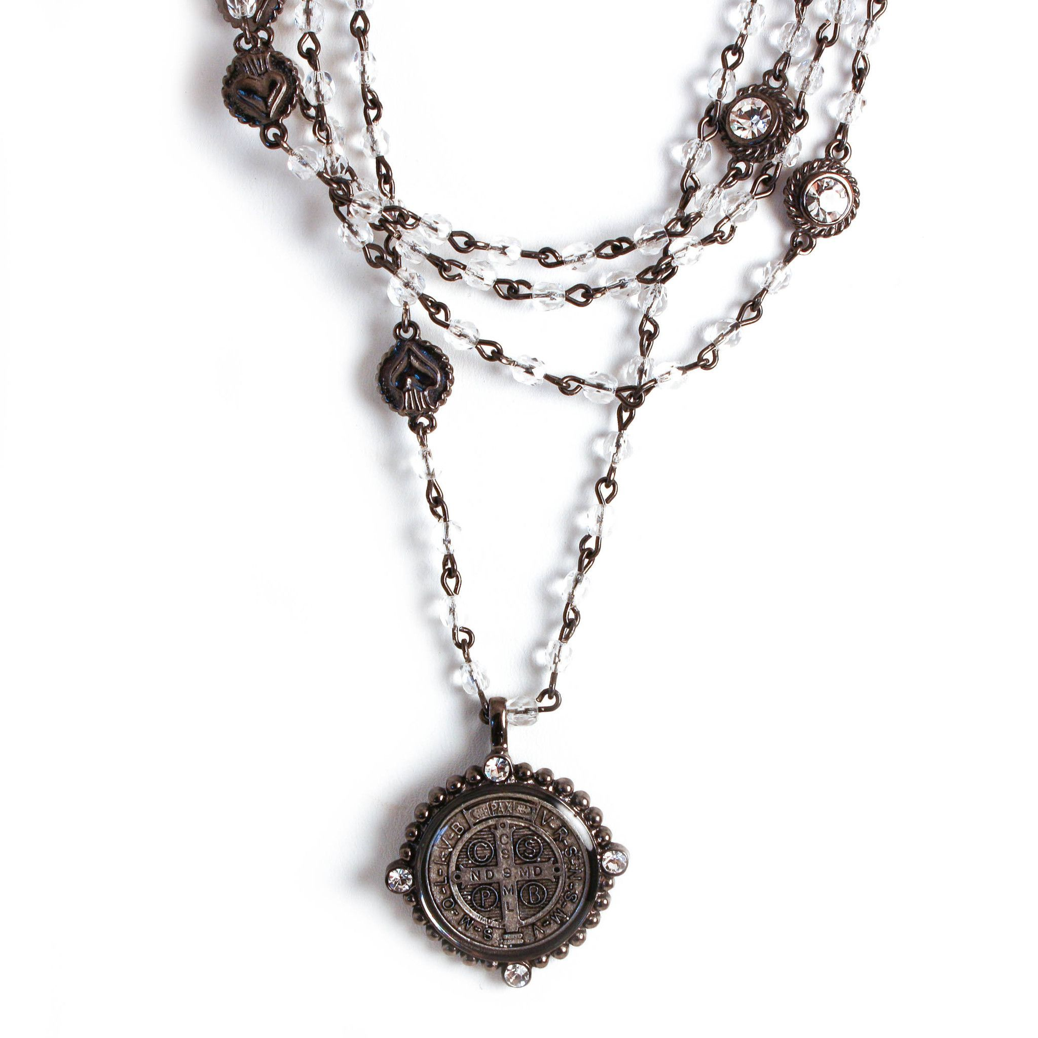 """Virgins, Saint, & Angels, """"San Benito Magdalena"""" Necklace"""