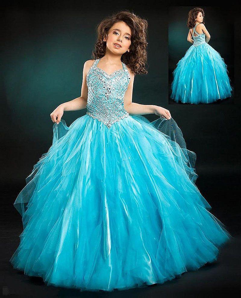Pas cher filles pageant robe livraison gratuite robe de