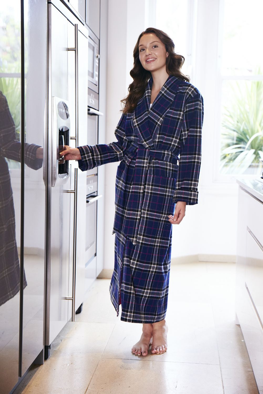 Luxury Ladies Wool Silk-Lined Robe - Summer Sale 17 | Robe, Lady ...