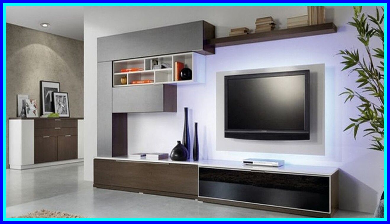 95 Reference Of Tv Stand Shelf Living Room In 2020 Moder