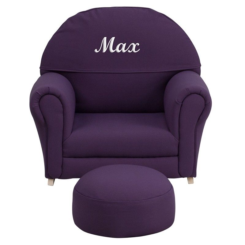 Flash Furniture Personalized Kids Fabric Rocker Chair And Footrest
