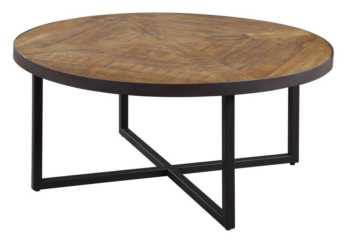 Gracie oaks parthenay round coffee table wayfair modern