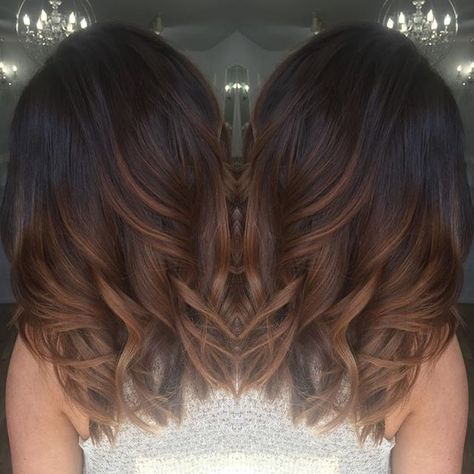 Warm Chocolate Brown Hair With Caramel Highlights Hair Hair