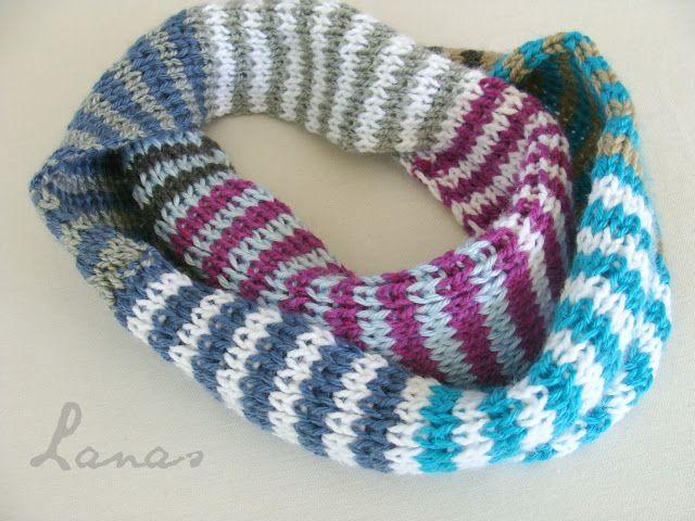 Lanas de Ana: Infinity in Stripes   Knit & crochet projects ...