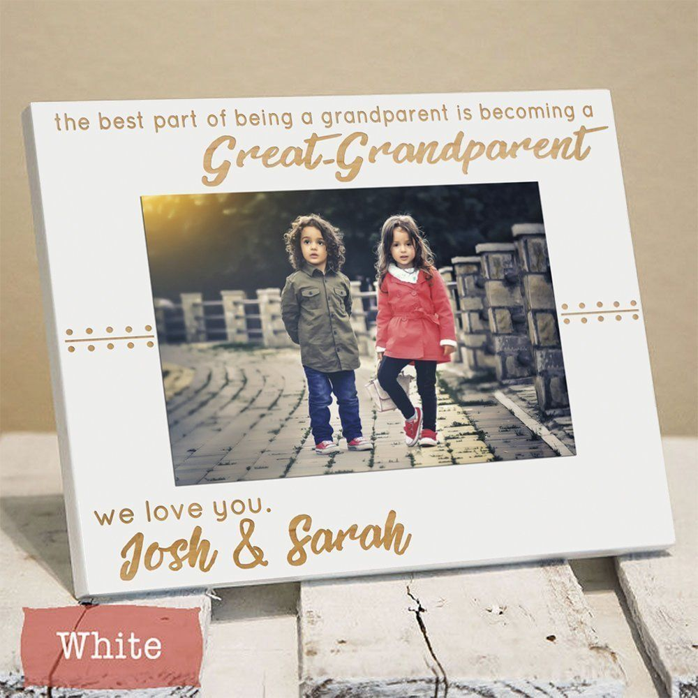 Personalized Great Grandparents Picture Frame Gift - Great ...