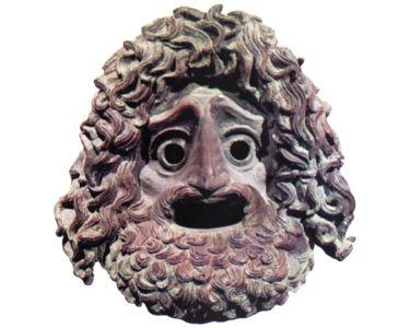 Máscara de teatro utilizada pelos atores gregos