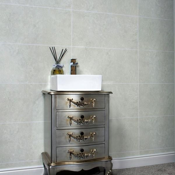 Whistling Dixie Stone Grey Tile Effect PVC Wall Panel 2400mm x 600mm