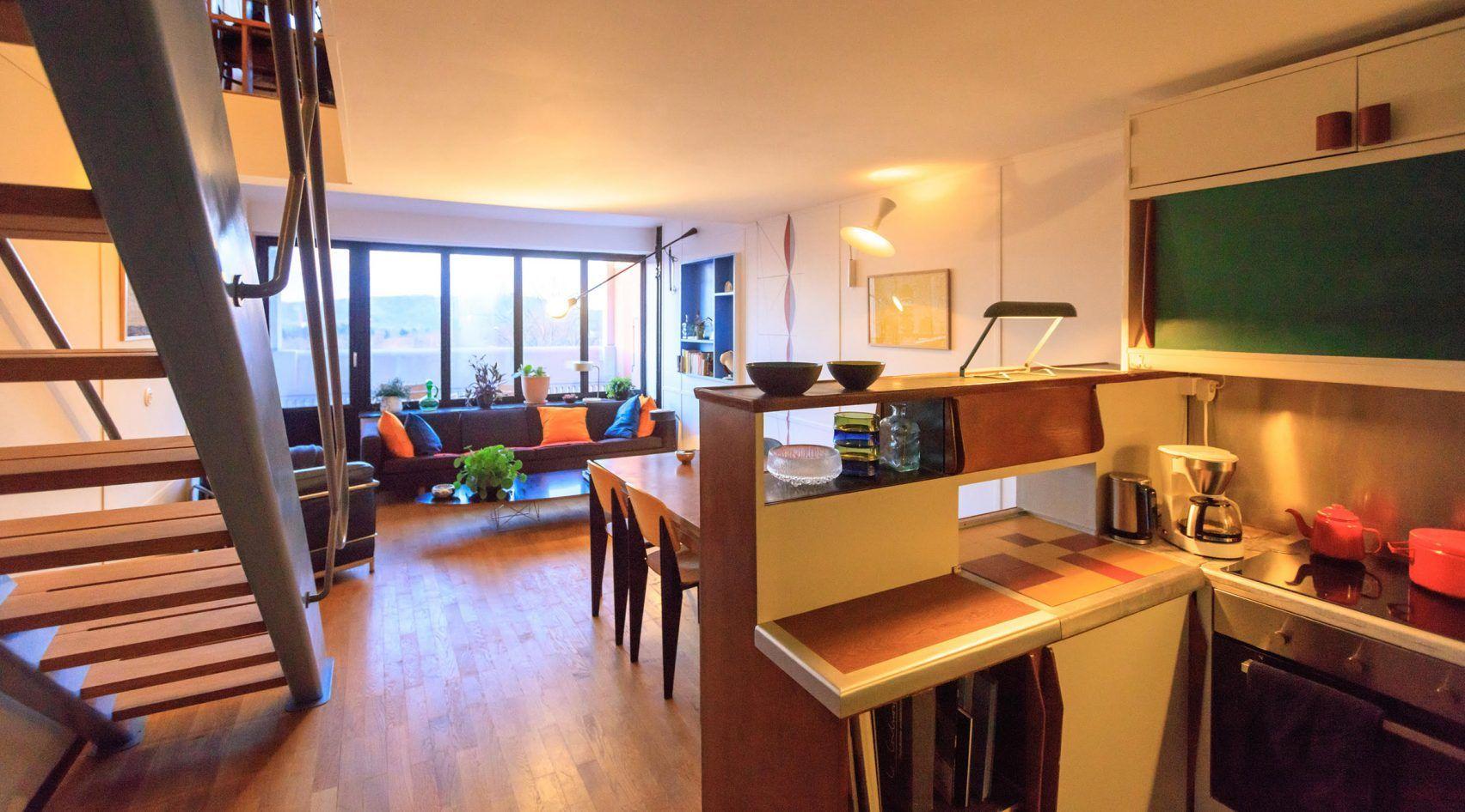 Le Corbusier S Interior Realised By Philipp Mohr At Unite D Habitation In Berlin Nyc Rooms Interior Architecture Design Le Corbusier