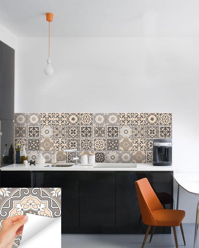 Kitchen Decals 24 Pc Set Retro Vinyl Tile Sticker Bathroom Mural Decor Bs20 Ebay Home Decor Vinyl Tile Decor