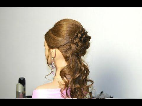 Romantic Prom Hairstyle For Long Hair With Braided Flower Pricheska Na Vypusknoj S Cvetkom Iz Volos Youtube Long Hair Styles Hair Styles Hair Videos