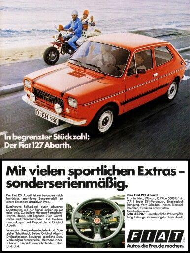 Fiat 127 Abarth Mk1 Fiat Abarth Heckscheibe Autowerbung