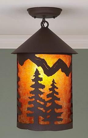 Cascade Lantern Spruce Ceiling Light