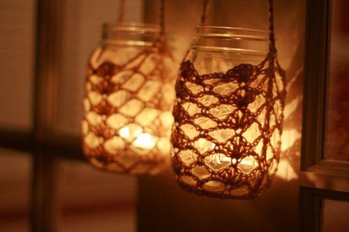 Crocheted Jar Cozy by Wwjend