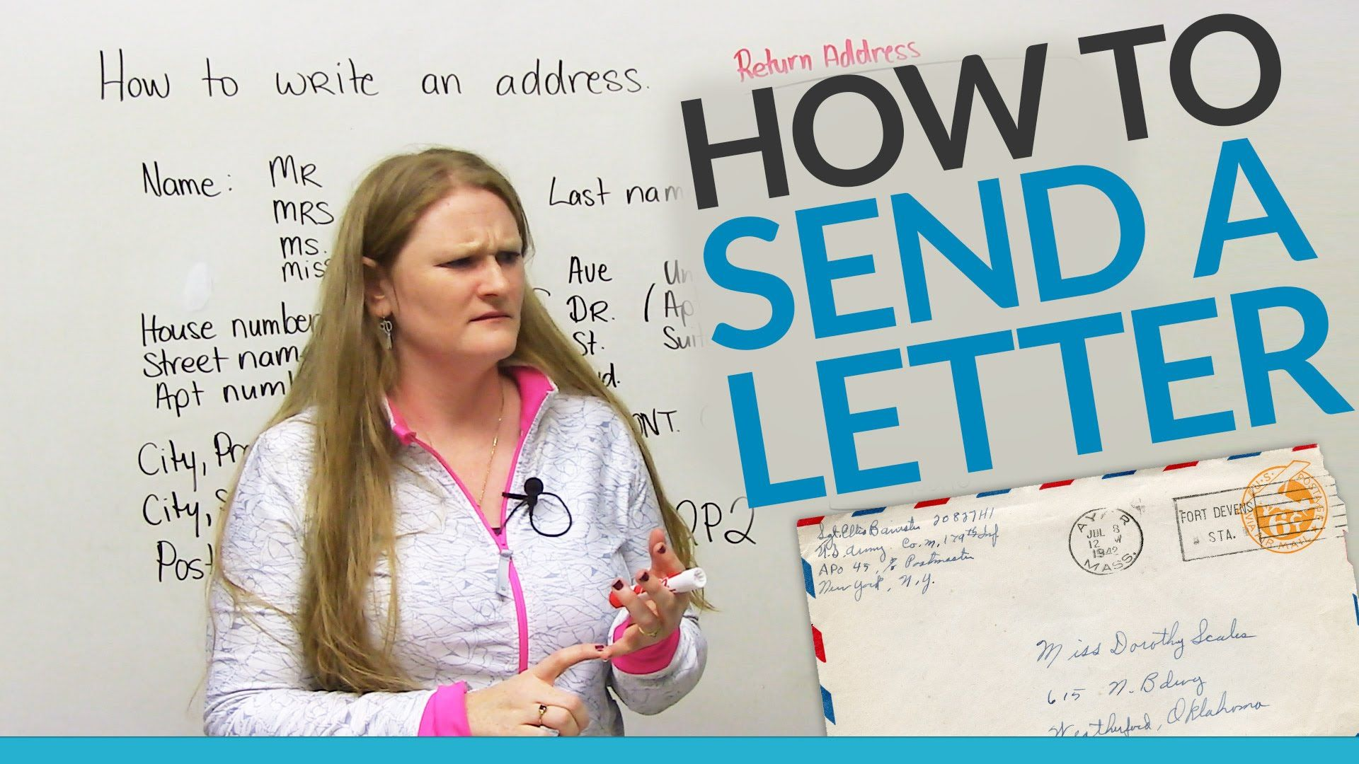 In this useful lesson, you will learn how to send a letter