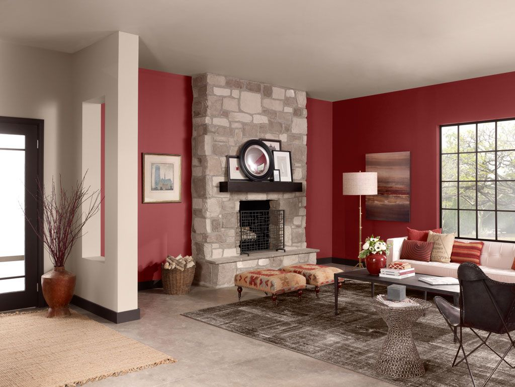 Color palettes fireplace ideas living room red paint - Colour schemes for living rooms 2015 ...
