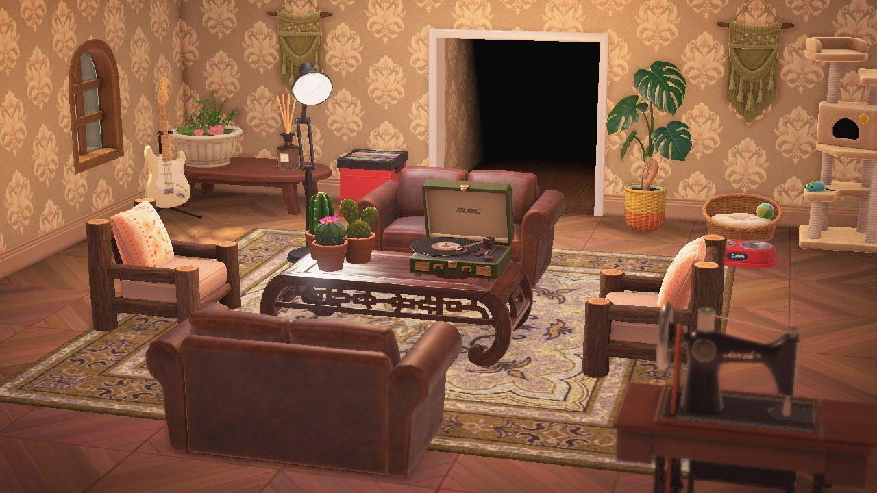 Acnh Week 2 Home Designs In 2020 Animal Crossing Coco ... on Animal Crossing New Horizon Living Room Ideas  id=47610