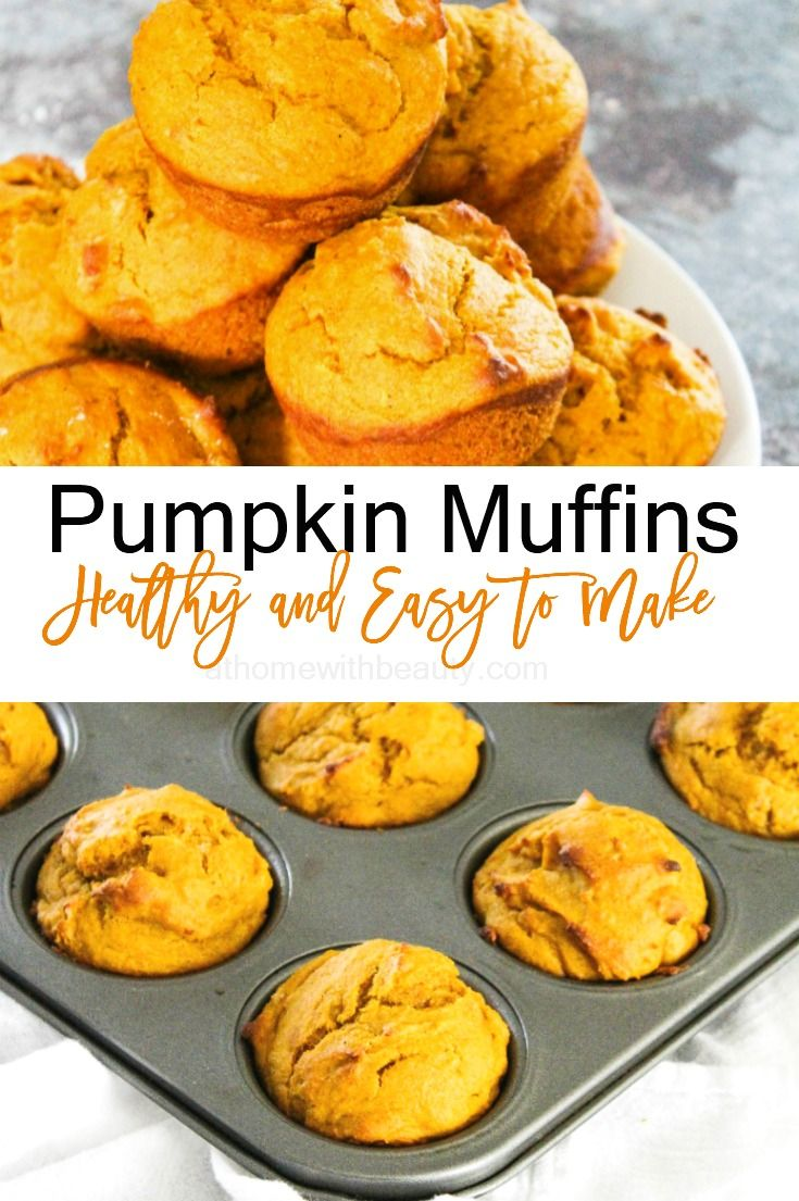 Pumpkin Muffins - Healthy and Easy to Make – At Home With Zan #pumpkinmuffins