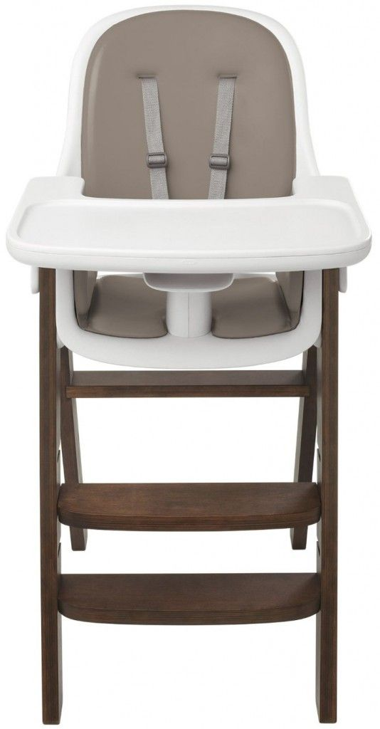 OXO Tot Sprout Wooden Chair,Taupe/Walnut baby high chair