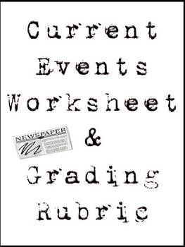 Current events activity worksheet