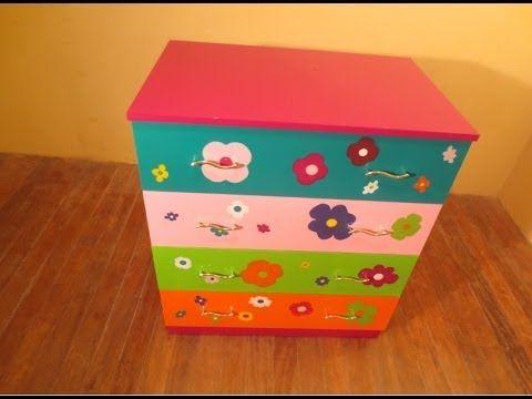 C mo decorar un mueble con papel pintado paso a paso youtube habitaci n ni os pinterest - Como decorar un mueble con papel pintado ...
