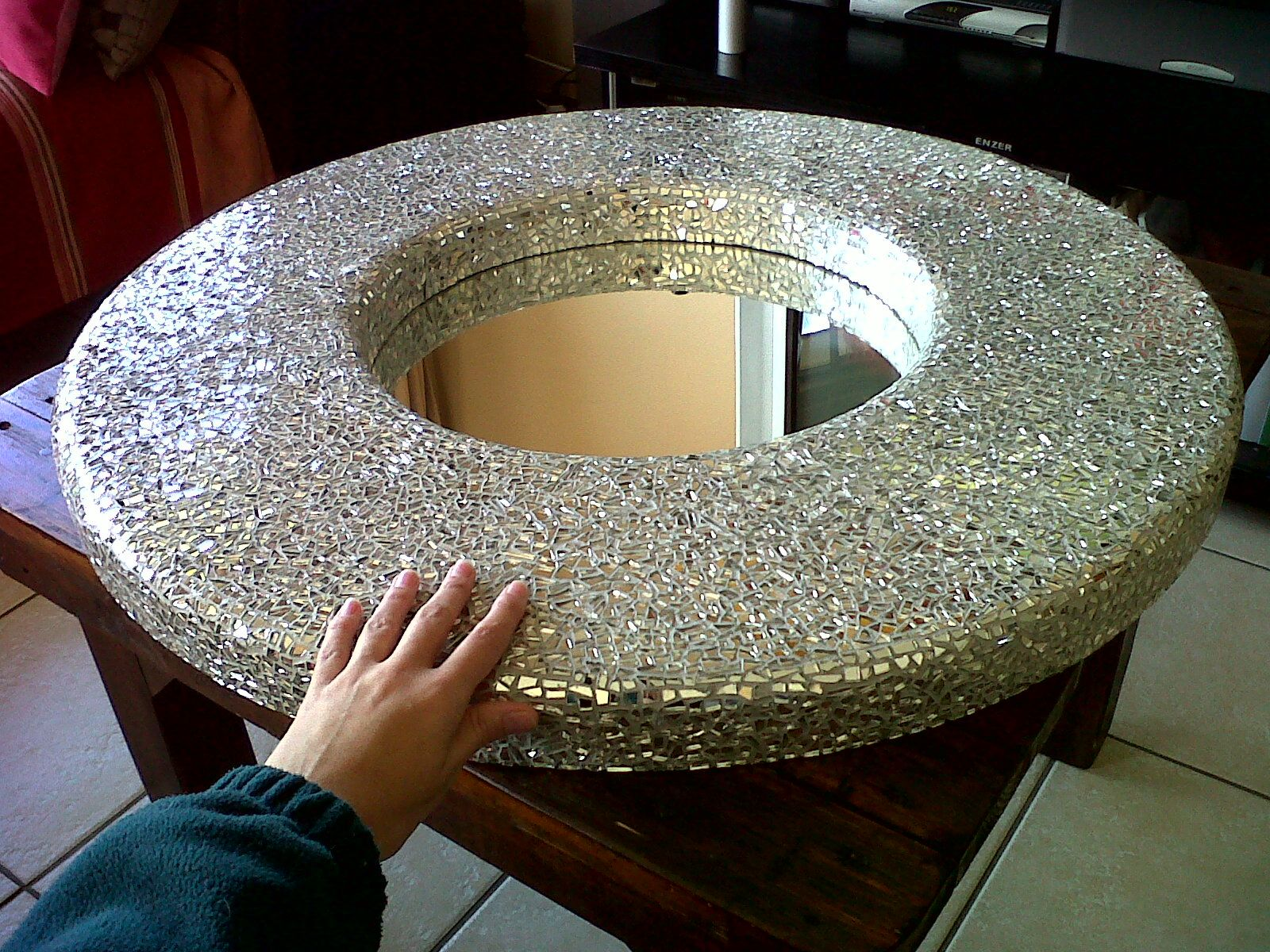 Image result for mosaic mirror diy