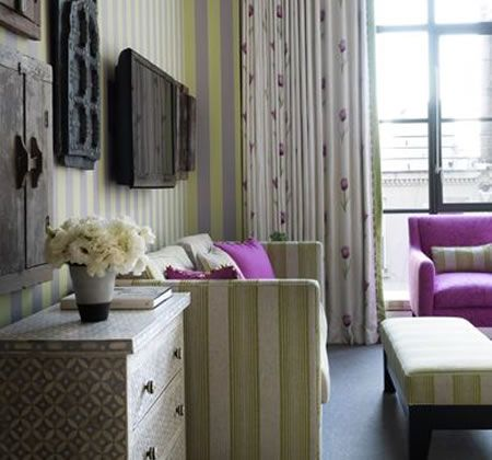 Neon Green Stripes In A Comfy Room Interiors Walls And Beauteous Two Bedroom Suites In Nyc Concept Design