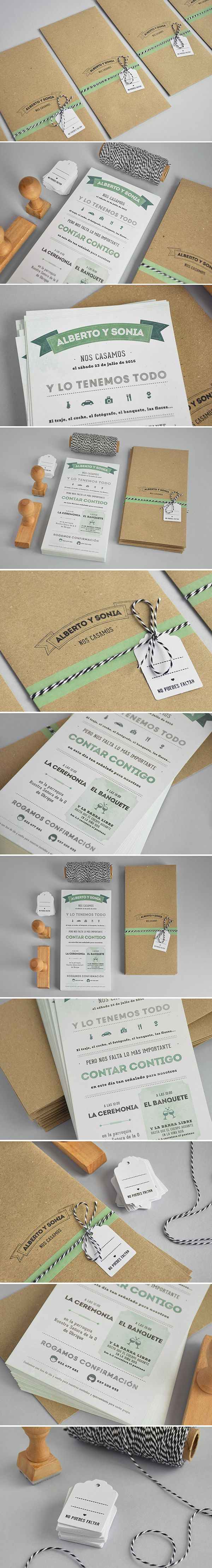 Diseño De Invitaciones De Boda Con Acabados Hechos A Mano