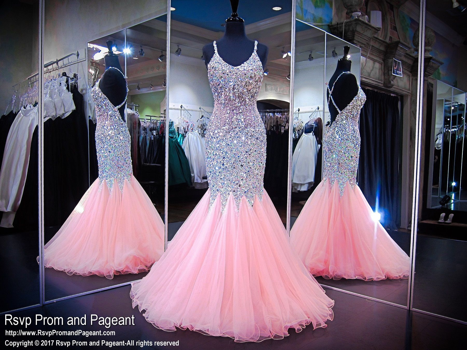 Light Pink Beaded Mermaid Prom Dress | Prommmm! | Pinterest | Prom ...