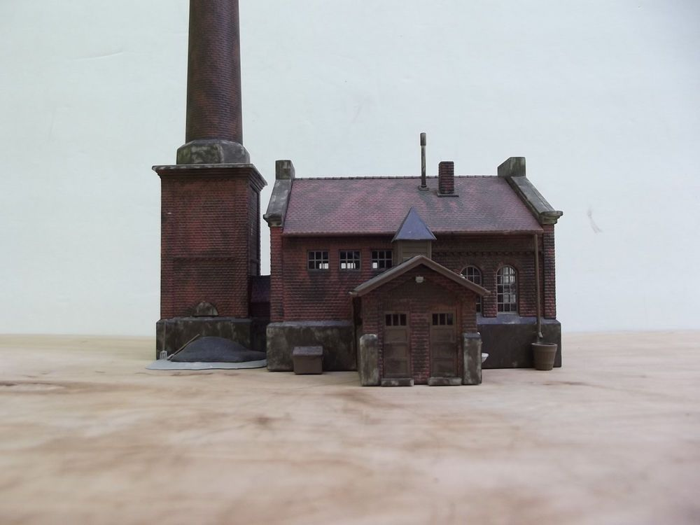 HO Scale Kibri Built Boiler House Early Weathered Factory ...