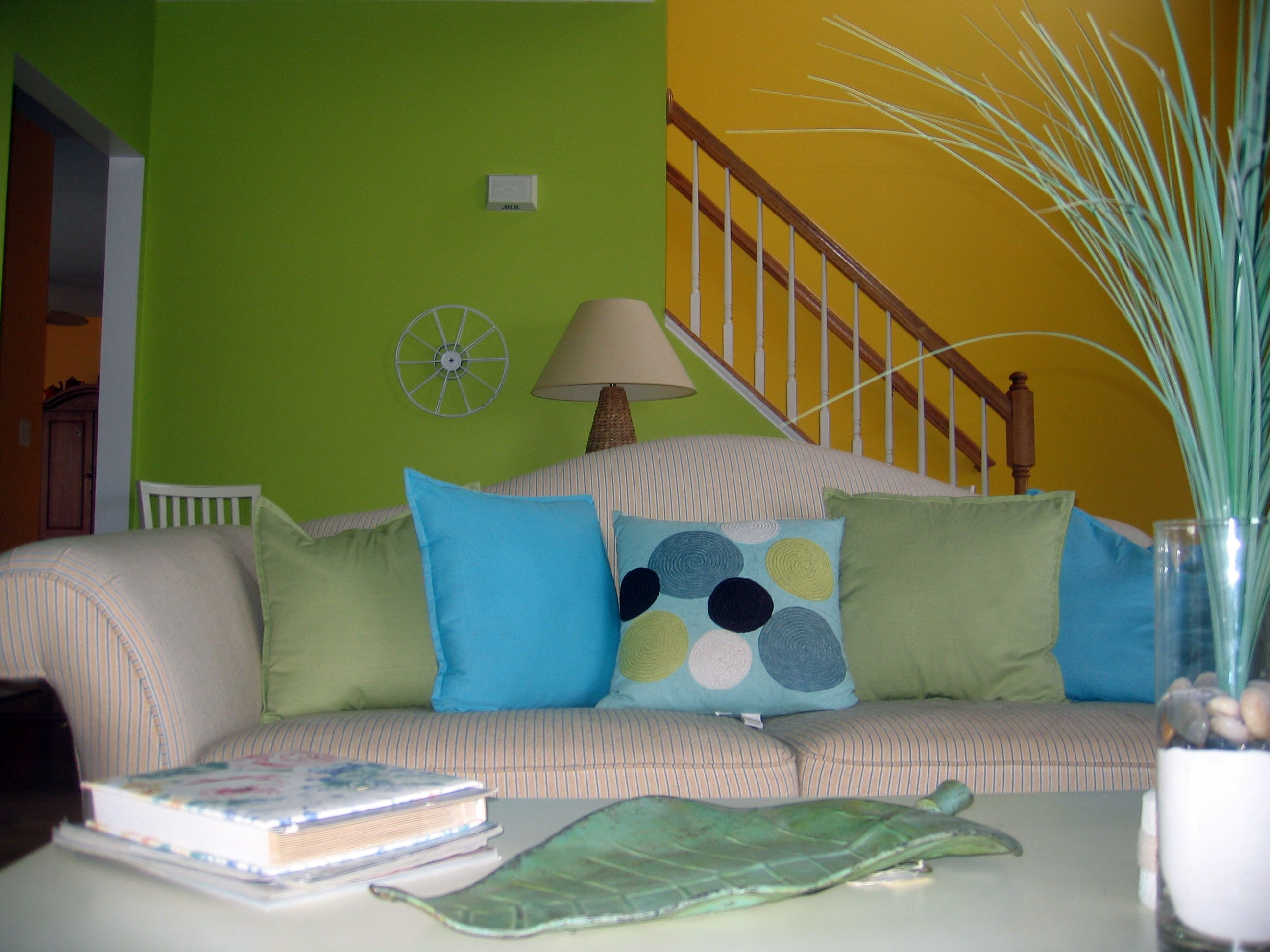 Color Changes Everythingu2013Lime Green Living Room Makeover