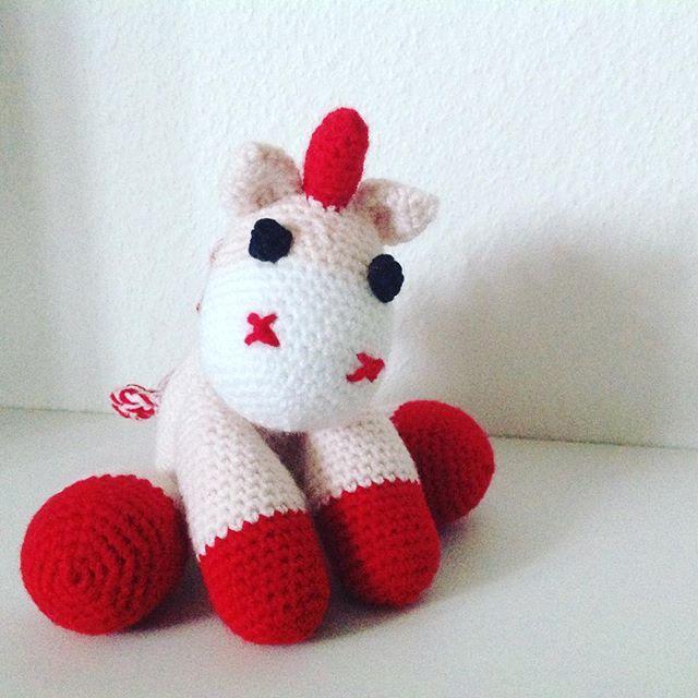 Hæklet enhjørning 🦄 #hækle #haekle #unicorn #hæklet