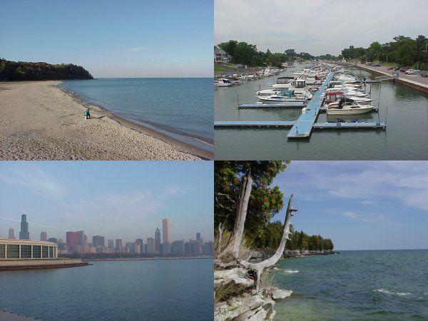 Shoreline Kenosha Harbor Wisconsin Chicago Door County