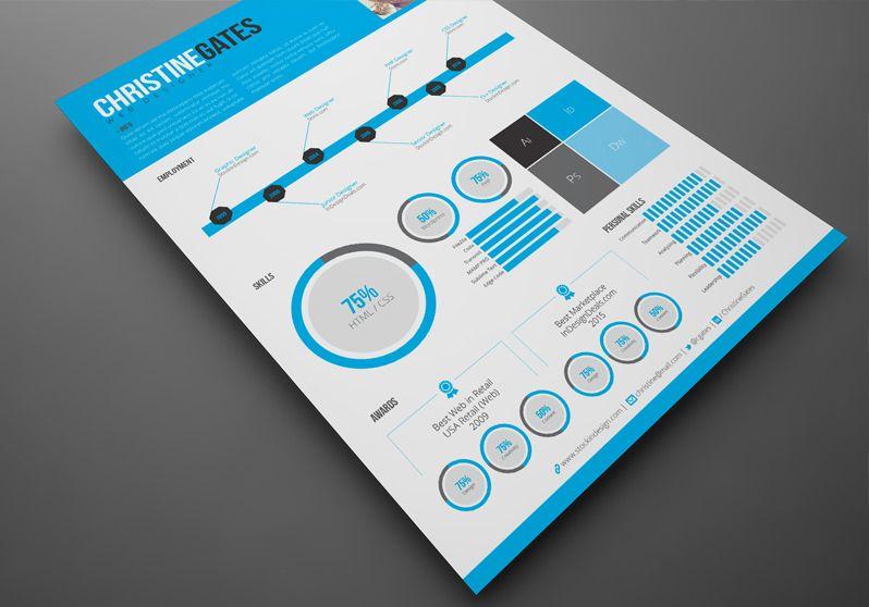 Modern Infographic Resume - Infographic resume, Infographic resume template, Resume design creative, Resume design free, Indesign templates, Infographic - cv