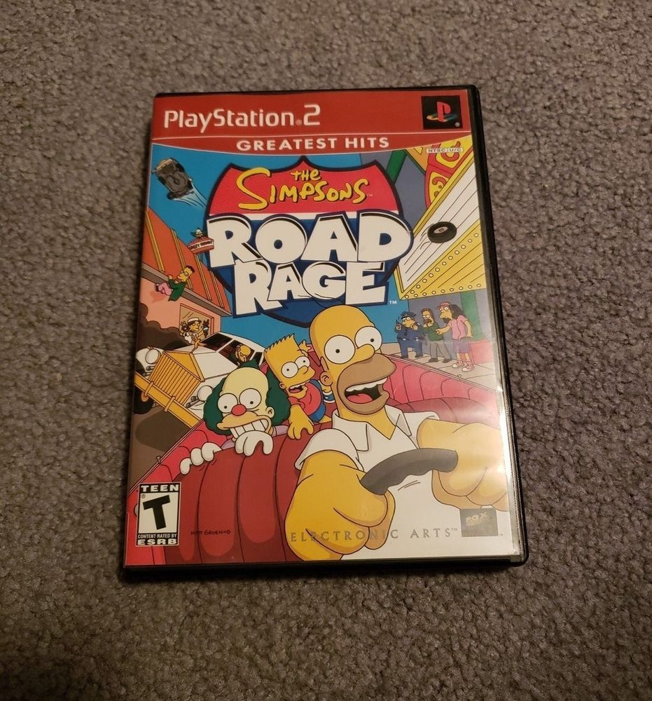 Simpsons Road Rage (Sony PlayStation 2, 2001) PS2 COMPLETE
