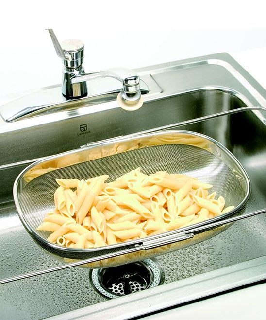 Expandable Stainless Steel Over The Sink Strainer   Gotta Get It!    Pinterest   Sink Strainer, Sinks And Stainless Steel