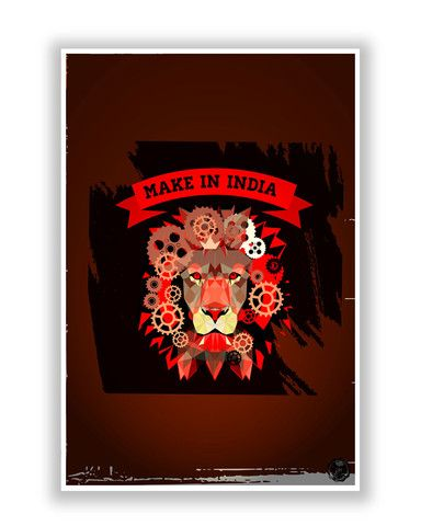 online posters india make in india poster � posterguy