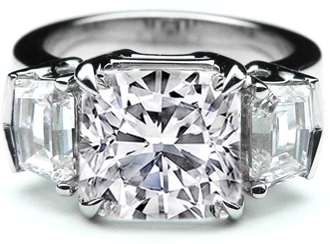 #mdcdiamonds.com          #ring                     #Engagement #Ring #Large #Cushion #Diamond #Engagement #Ring #Cadillac #Step #Side #Stones #White #Gold #ES897CUWG                Engagement Ring - Large Cushion Cut Diamond Engagement Ring Cadillac Step cut Side Stones in 14K White Gold - ES897CUWG                                     http://www.seapai.com/product.aspx?PID=827178