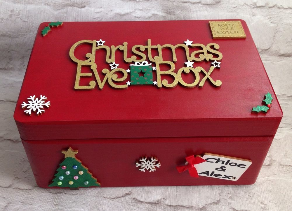 Personalised Christmas Eve Box Christmas Wooden Christmas Eve